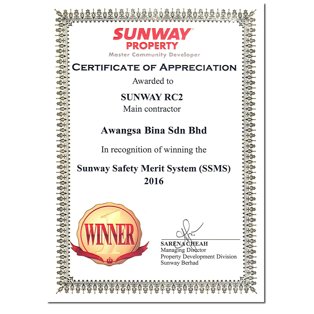 SUNWAY SAFETY MERIT SYSTEM | SUNWAY GEO RECIDENCES 2016