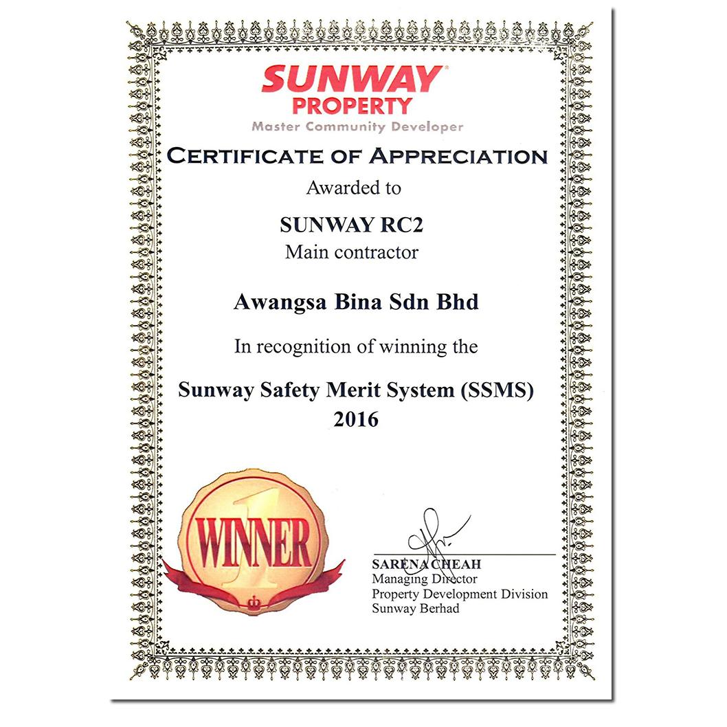 SUNWAY SAFETY MERIT SYSTEM | SUNWAY GEO RECIDENCES 2016